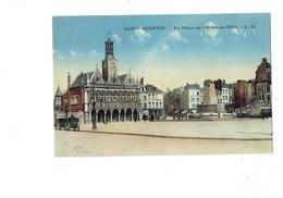 Cpa - 02 - Saint Quentin - Place De L'hotel De Ville - L.D. - Travaux échafaudage -- Café De Paris - 1927 - Saint Quentin