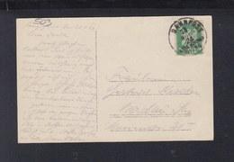Dt. Reich AK Lenggries 1924 Bahnpost Bad Tölz München - Deutschland