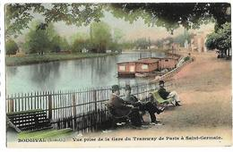 BOUGIVAL  Vue Prise De La Gare Du Tramway De Paris à St-Germain - Bougival