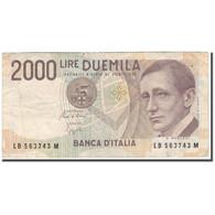 Billet, Italie, 2000 Lire, 1990, KM:115, TB+ - [ 2] 1946-… : Républic