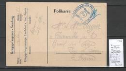 France- CP De Prisonnier - Landshut En Baviere -1916 - Marcophilie (Lettres)