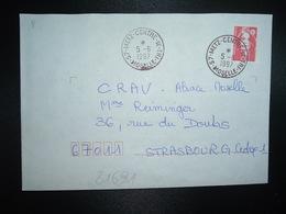 LETTRE TP M. DE BRIAT TVP ROUGE OBL.5-6 1997 57 METZ CENTRE DE TRI MOSELLE - Marcophilie (Lettres)