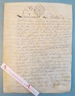 Parchemin Manuscrit 1780 - Béon - Reynaud - Contrat De Mariage - Cachet Généralité De DIJON - XVIIIè - Manuscrits