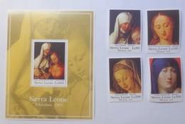 Sierra Leone Block 182 Maria Mit Kind 4 Marken 1754- 1757  A. Dürer Xx ♥ (49820) - Sierra Leone (1961-...)