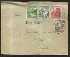 Reich III  Lettre De Solingen Pour Zimmerbach ( Alsace ); Du 20 05 19 - Allemagne