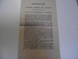 ASSOCIATION Du Sacré Coeur De Jésus , 1882,  Petit Fascicule Religieux - Religion & Esotérisme