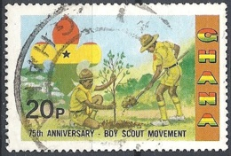 Ghana, 1982 Scouts Activites, 20p # S.G. 991 - Michel 940 - Scott 794  USED - Ghana (1957-...)