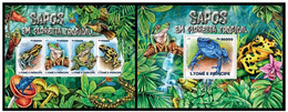 Sao Tome And Principe 2015 Fauna Frogs Klb+s/s MNH - Frogs