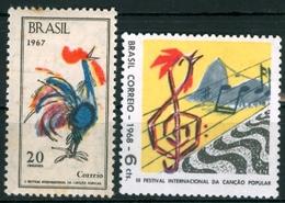 BRAZIL #1061 / 1097 - 2nd And 3rd   International Festivals  Of Popular Music  - 1967 / 1968 - Brazil