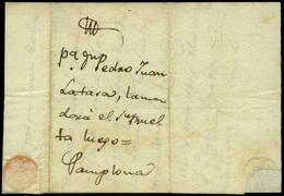 1825. Carta Cda Fuera Del Correo, De Zaragoza A Pamplona. Curioso Y Raro Documento Circulado. - Spain