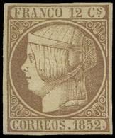 Ed. * 13 - 1852. Gran Ejemplar. Marquilla Roig - Unused Stamps