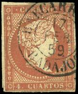 """Ed. 0 48 Tipo I """"Barcarota-Badajoz"""" Lujo.Rarísimo. - Unused Stamps"""