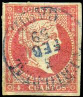 "Ed. 0 48 - Mat. Fechador Tp. I ""Puerto Real-Cádiz"" (azul) Lujo. Muy Raro. - Unused Stamps"