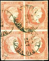 "Ed. 0 48 Bl.4 - Mat. Fechador Tp. I ""Villa Del Rio-Córdoba"" Preciosa. - Unused Stamps"