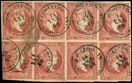"Ed. 0 48 Bl.4 - Rarísimo Bloque Con Mat. Fechador Tp. II ""Cogolludo-Guadalajara"" - Unused Stamps"