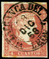 "Ed. 0 48 - Mat. Fechador Tp. I ""Villafranca Del V.-León"" Lujo. Muy Raro. - Unused Stamps"