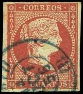 "Ed. 0 48 - Mat. Fechador Tp. I ""Madrid"" (azul). No Reseñado. Muy Raro. - Unused Stamps"
