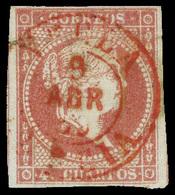 "Ed. 0 48 - Mat. Fechador Tp. I ""Yecla-Murcia"" (rojo). Lujo. - Unused Stamps"