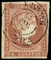 """Ed. 0 48 - Mat. Fechador Tp. II """"Valcarlos-Navarra"""" Precioso. Muy Raro. - Unused Stamps"""
