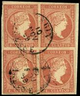 "Ed. 0 48 Bl.4 - Mat. Fechador Tp. I ""Verin-Orense"" Raro. Muy Bonito. - Unused Stamps"