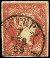 "Ed. 0 48 - Mat. Fechador Tp. I ""Estepa-Sevilla"" (azul). Precioso. - Unused Stamps"