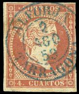 "Ed. 0 48 - Mat. Fechador Tp. I ""Alforja-Tarragona"" (azul). Lujo. Raro. - Unused Stamps"