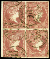 "Ed. 0 48 Bl.4 - Mat. Fechador Tp. II ""Aliaga-Teruel"" Borde Hoja. Precioso. Raro. - Unused Stamps"
