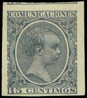 Ed. * 219 - Ensayo De Color. 15cts. Azul (Galvez1479) S/Dentar. Muy Escaso. - Nuevos