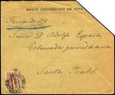 Ed. 224 - 1897. Carta Cda De Madrid A Fernando Poo (Santa Isabel) Al Dorso Tránsitos En Lisboa Y Santo Tome - Nuevos