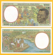 Central African States 1000 Francs Equatorial Guinea (N) P-502Ng 2000 UNC - Central African States