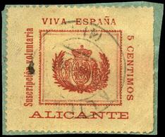 """0 S/Cat. 1898.Guerra De Cuba """"Alicante.Viva España"""" 5Cts. - Nuevos"""