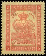 """* S/Cat. 1898.Guerra De Cuba """"Jerez De La Frontera"""" 5Cts. - Nuevos"""