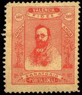 """S/Cat 1899. """"Valencia-Sanatorio Porta Coeli Patria-Amor"""" Raro. - Nuevos"""