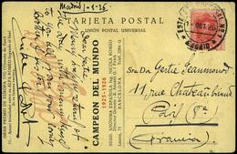"""Ed. T.P. 317 - Rara Tarjeta Postal """"Gran Premio Automovilístico De Europa (circuito De SPA)"""" Y Cda A Paris. Lujo. - Nuevos"""