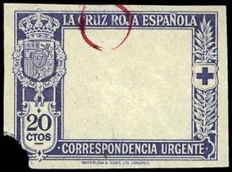 Ed. * 338 Prueba De Marco S/Dentar. Colores Cambiados (azul). Muy Escaso. - Nuevos