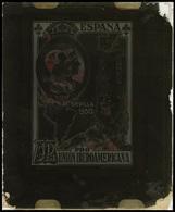 Ed. 581 - Cristal Con La Reproducción Ampliada Utilizada Para La Obtención De Los Ensayos De La Prueba. Rarísimo. - Nuevos