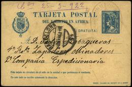"""Ed. 0 T.P. 2 - 1922. De Barcelona Al """"Regimiento De Zapadores Minadores"""" Y Fcia. Interesante - 1889-1931 Reino: Alfonso XIII"""