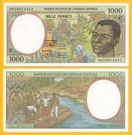 Central African States 1000 Francs Congo (C) P-102Cg 2000 UNC - États D'Afrique Centrale