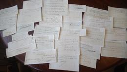 COLLECTION 29 DOCUMENTS A IDENTIFIER AUTOGRAPHE ORIGINAL AUTOGRAPH PERIODE XVIIIe /FREE SHIP. R - Handtekening