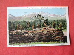 Lonesome Pine & Long Peak From High Drive  Estes  Park   Colorado > Ref 3164 - Other