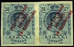 Ed. * 52S Pareja Variedad S/Dentar. Cat. +200€ - Marruecos Español