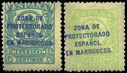Ed. *** 6HCC+7HCC Variedad Cambio De Color En La Habilitación. Cat. 100€ - Marruecos Español