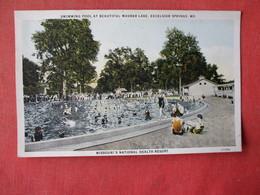 - Missouri  National Health Resort-- Swimming Pool At Maurer Lake Excelsior Springs - Missouri >  Ref 3164 - Other