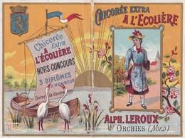 """Calendrier 1894 Chicorée Extra """" à L'écolière""""  Leroux Orchies - Kalenders"""