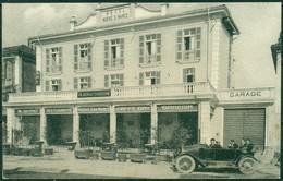 CARTOLINA - CV193 NIZZA MONFERRATO (Asti) Hotel Nuovo San Marco, Piazza Stazione Con Bella Animazione, Viaggiata 1935, - Asti