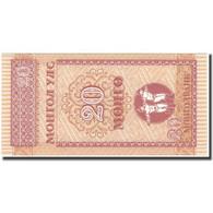 Billet, Mongolie, 20 Mongo, KM:50, NEUF - Mongolie