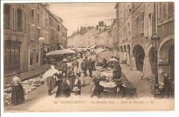 88 - La Grande Rue - Jour De Marché - Remiremont