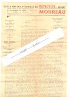Lettre à Entête - Ecole Internationale De Détective Expert MOUREAU - LIEGE 1946 - Belgique