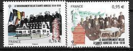 France 2015 N°4933/4934 Neufs Gouvernement Belge De St Adresse, à La Faciale - France