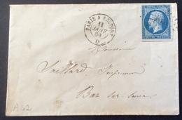 A42 Ambulant  PBelf Paris à Belfort «D »T14 «POSTFS» 11/1/1860 - Marcophilie (Lettres)